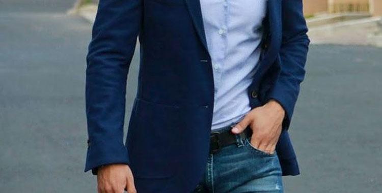 sports coat blue jeans
